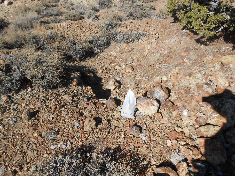 Brunton Pass - Sample Site BR10 2.16% Copper