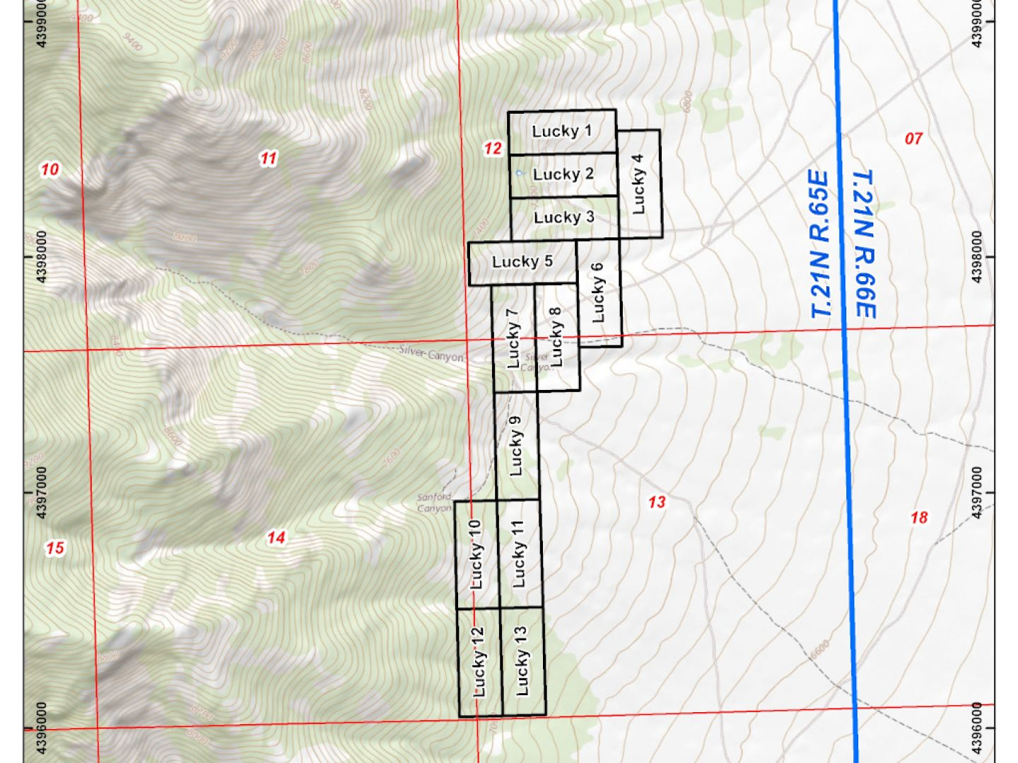 Lucky Project - Claim Location Map