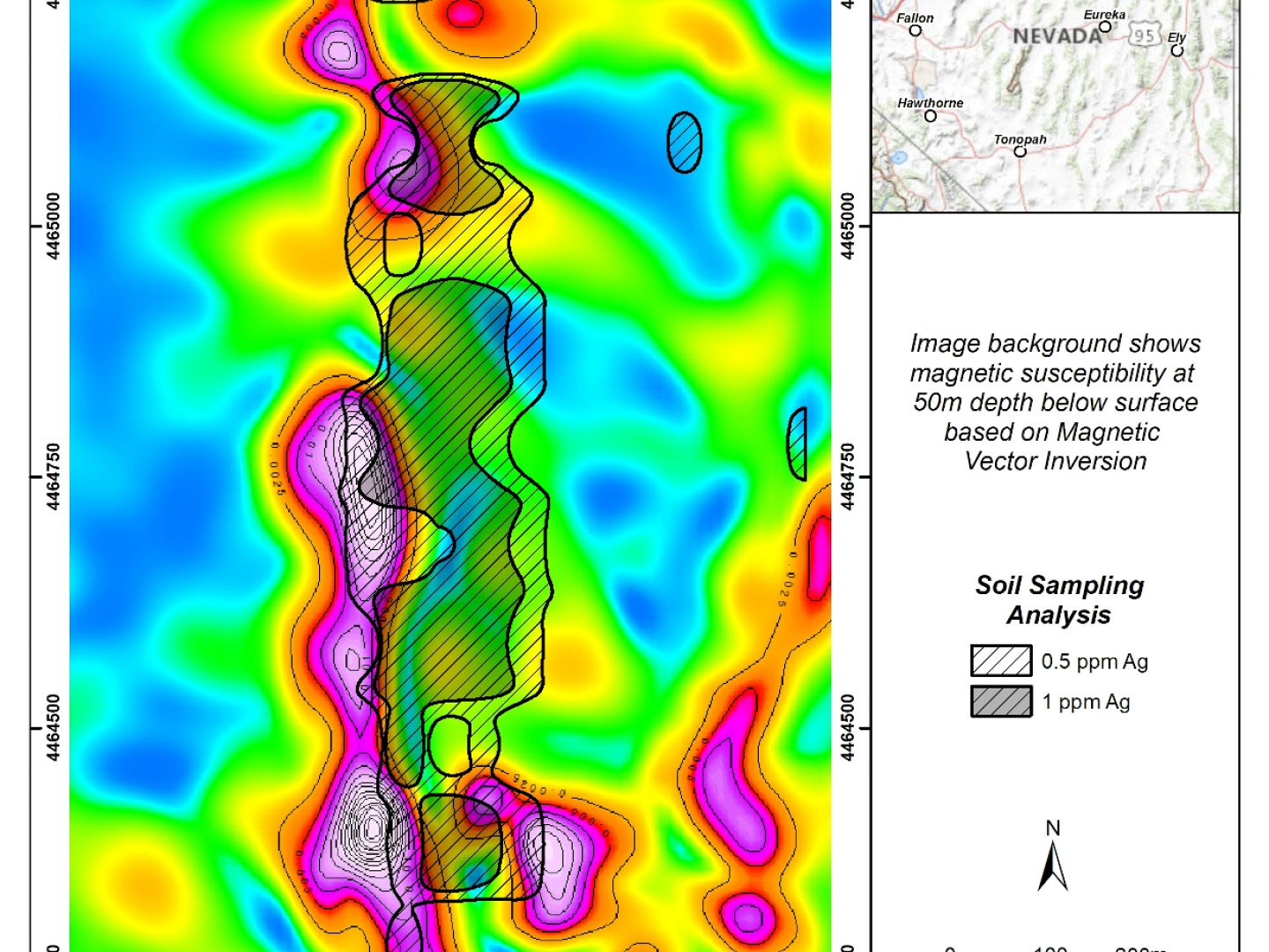 Mt Tobin - Magnetic Susceptibility and Ag Soil Anomalies