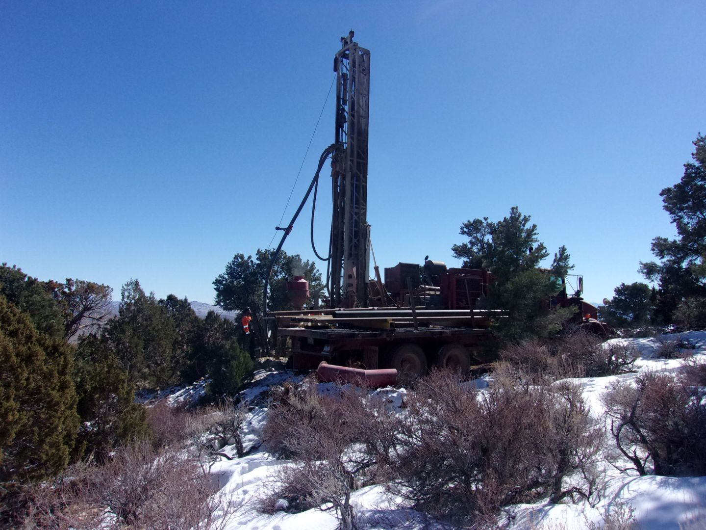 Drilling on the Lucky Project