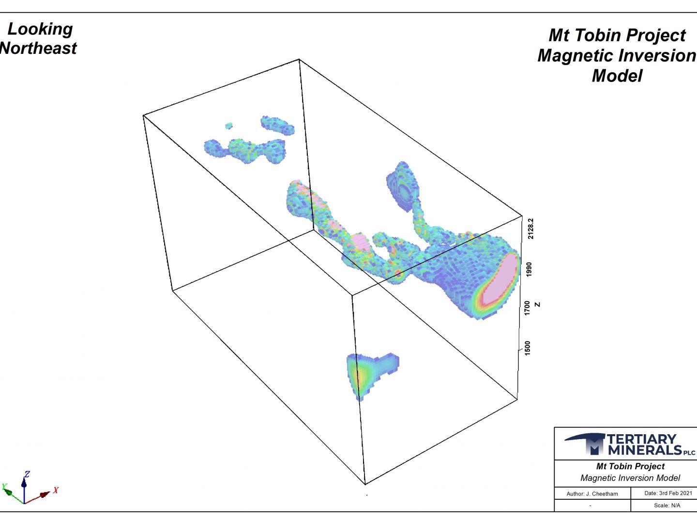 Mt Tobin - Magnetic Inversion Model