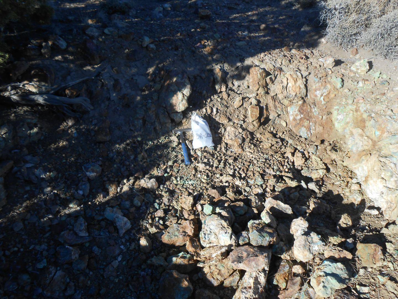 Brunton Pass - Sample Site BR02 8ft grading 4.66% Copper