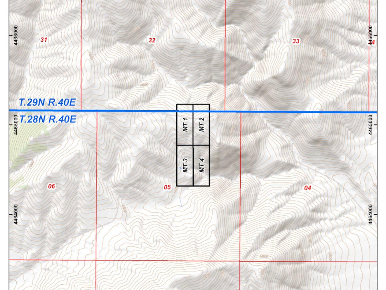 Mt Tobin - Claim Location Map